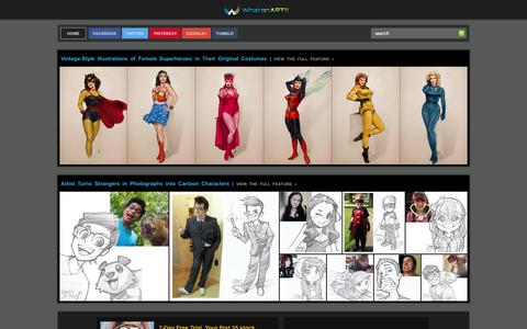 Screenshot of Home Page whatanart.com - What an ART!!! - Graphic Arts Gallery - captured Sept. 22, 2014