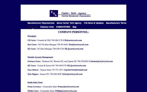 Screenshot of Contact Page carteryork.com - Carter York Agency - Contact Us - captured Oct. 2, 2014