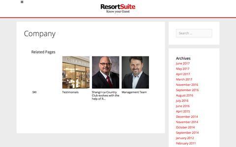 Company | ResortSuite