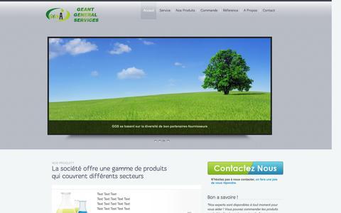 Screenshot of Home Page ggs-dz.com - GGS - captured Oct. 1, 2014