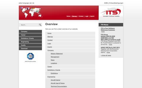 Screenshot of Site Map Page its-works.com - ITS Group   Ihr Globaler Dienstleistungs-Partner - Sitemap - captured Oct. 6, 2014