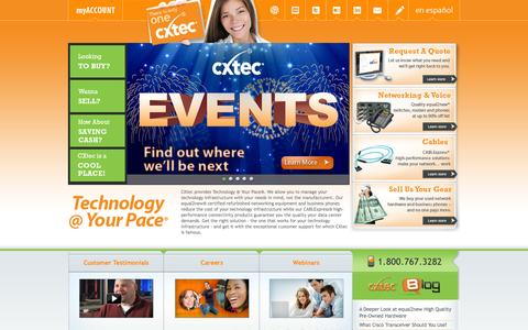 Screenshot of Home Page cxtec.com - Used Cisco, Nortel, Avaya, 3Com, HP   Network Hardware - Routers, switches, business phones - captured Sept. 27, 2014