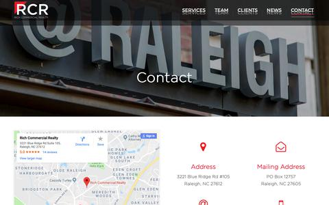 Screenshot of Contact Page richcommercialrealty.com - Contact – Rich Commercial Realty - captured Oct. 18, 2018