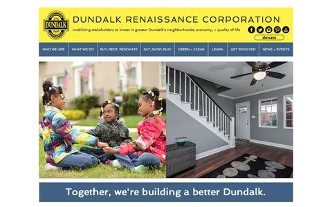 Screenshot of Home Page dundalkusa.org - Dundalk Renaissance Corporation - captured Feb. 9, 2016