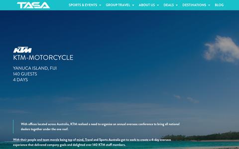 Screenshot of Case Studies Page travelandsports.com.au - Case Studies | Travel & Sports Australia - captured June 27, 2018