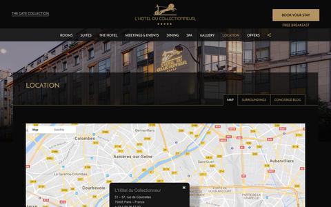 Screenshot of Maps & Directions Page hotelducollectionneur.com - L'Hotel du Collectionneur Arc de Triomphe Paris ***** A Gate Collection Hotel | Map - OFFICIAL SITE - captured July 7, 2017