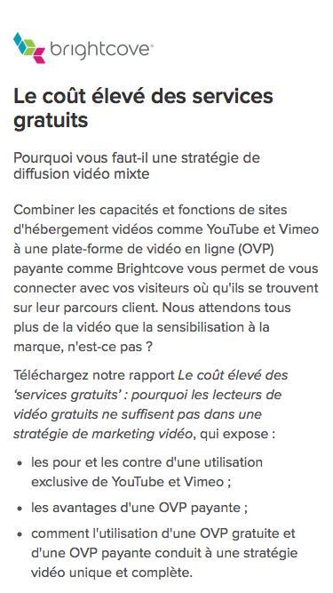 Brightcove | Le coût élevé des services gratuits. Pourquoi vous faut-il une stratégie de diffusion vidéo mixte.