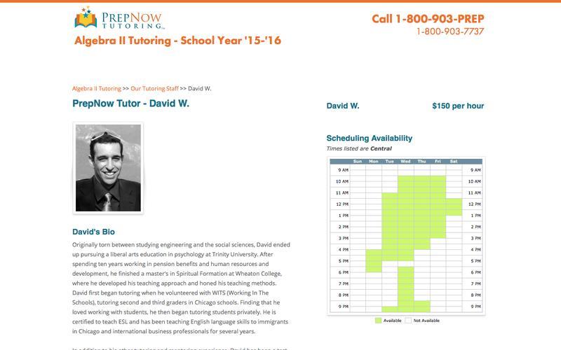 PrepNow | Algebra II Tutoring