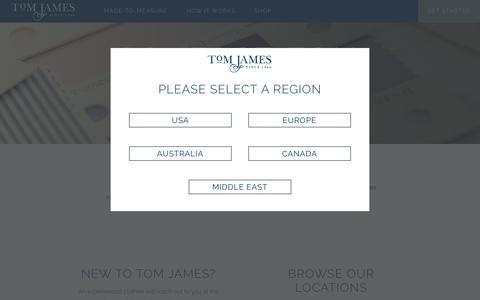 Screenshot of Contact Page tomjames.com - Contact Us | Tom James Company - captured Feb. 16, 2016