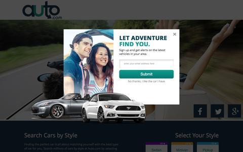 Screenshot of Home Page auto.com - Used Cars and New Cars | Auto.com - captured Aug. 21, 2016