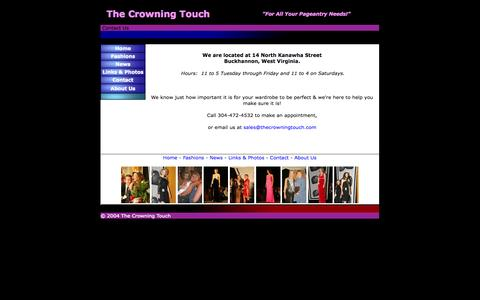 Screenshot of Contact Page thecrowningtouch.com - The Crowning Touch - Contact Us - captured Oct. 7, 2014