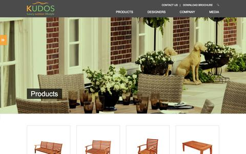 Screenshot of Products Page kudos-global.com - Products - captured Oct. 29, 2014
