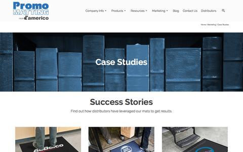 Screenshot of Case Studies Page promomatting.com - PromoMatting Marketing Case Studies - captured Nov. 14, 2016