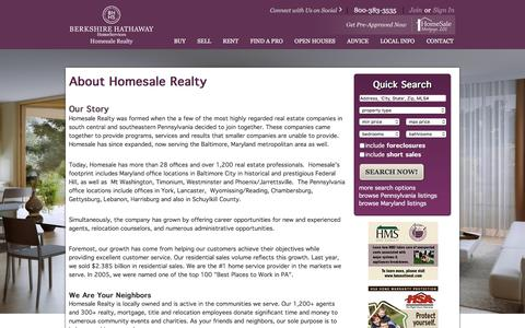 Screenshot of About Page homesale.com - About Us - Homesale Realty | Berkshire Hathaway Homesale Realty - captured Jan. 21, 2016