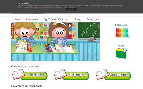 Screenshot of Home Page nadaledarca.com - Editorial de Cuadernos de repaso y refuerzo escolar - captured Sept. 11, 2015
