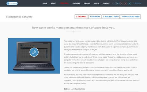 Maintenance Software, Property Software - E Works Manager