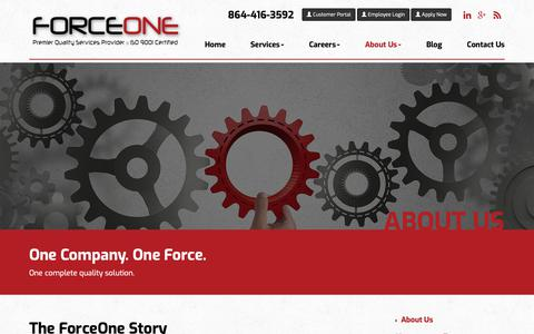 Screenshot of About Page goforceone.com - Automotive Quality Management Solutions | ForceOne - captured Oct. 10, 2018