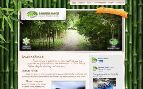 Screenshot of Home Page bambooranch.in - Bamboo Ranch   Experience life on the wild side… - captured Sept. 30, 2014