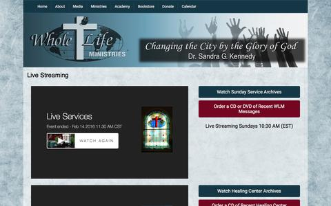 Screenshot of Press Page wholelife.org - Media - Whole Life Ministries - captured Feb. 14, 2016