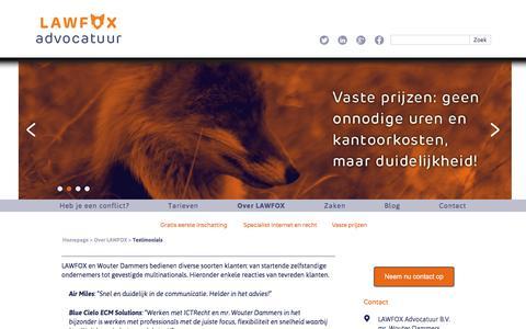 Screenshot of Testimonials Page lawfox.nl - LAWFOX  Testimonials – LAWFOX - captured Dec. 5, 2015