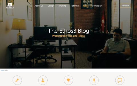 Screenshot of Blog ethos3.com - Powerpoint & Presentation Blog | Ethos3 - captured Dec. 12, 2015
