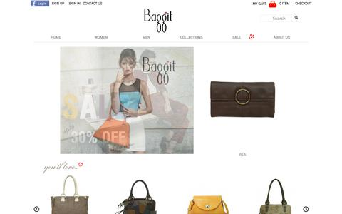 Screenshot of About Page Privacy Page Contact Page Signup Page Jobs Page Login Page Terms Page baggit.com - Baggit UK Handbags, Bags, Purses, Wallets, Laptop bags & Accessories. - captured Oct. 11, 2014
