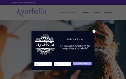 Screenshot of Testimonials Page ayurbella.com - Testimonials Archive — - captured Oct. 19, 2018