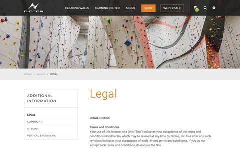 Screenshot of Terms Page nicros.com - Legal - Nicros Nicros - captured Dec. 21, 2018