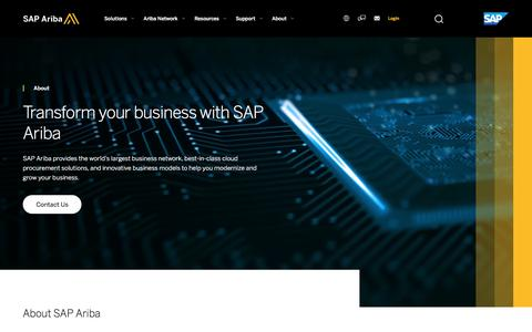 Screenshot of About Page ariba.com - About What SAP Ariba Does and Offers | SAP Ariba - captured Jan. 23, 2018