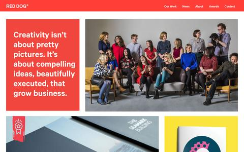 Screenshot of Home Page reddog.ie - Red Dog | Design Consultants Dublin - Creative Agency & Brand Identity - captured Oct. 20, 2017