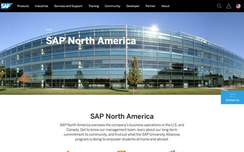 Screenshot of About Page sap.com captured Feb. 13, 2019