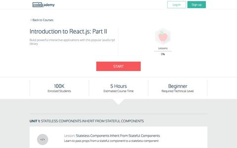 Introduction to React.js: Part II | Codecademy
