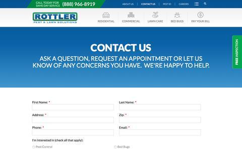 Screenshot of Contact Page rottler.com - Contact us - captured Dec. 4, 2016