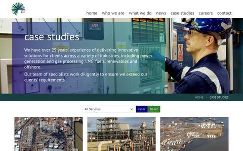 Screenshot of Case Studies Page pxlimited.com - Case Studies Archive - px group - captured Dec. 13, 2018