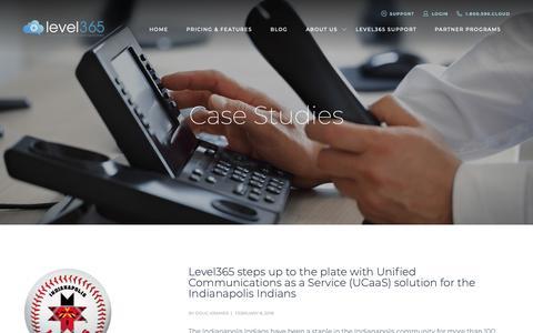 Screenshot of Case Studies Page level365.com - Case Studies - Level365 - captured Sept. 28, 2018