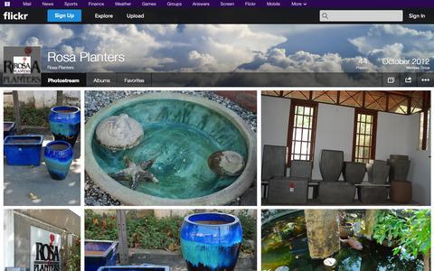 Screenshot of Flickr Page flickr.com - Flickr: Rosa Planters' Photostream - captured Oct. 26, 2014