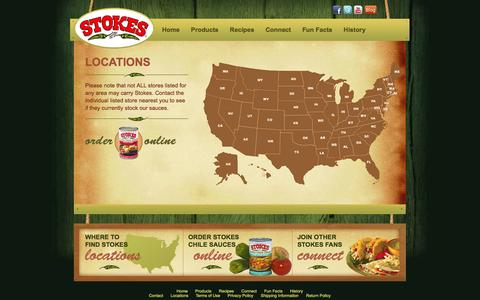 Screenshot of Locations Page stokeschile.com - Where to Buy Stokes - Locations - captured Sept. 30, 2014