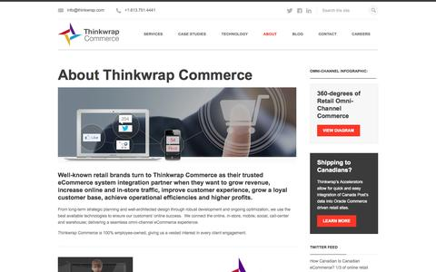 Screenshot of About Page thinkwrap.com - Omni-Channel Commerce System Integration | Thinkwrap Commerce - captured Sept. 22, 2014