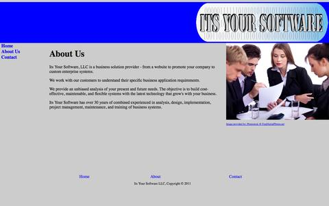 Screenshot of About Page itsyoursoftware.com - Its Your Software - captured Oct. 6, 2014