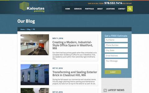 Screenshot of Blog kaloutas.com - Blog | Kaloutas Painting - captured Nov. 12, 2016