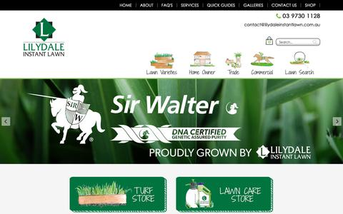 Screenshot of Home Page lilydaleinstantlawn.com.au - Lilydale Instant Lawn - captured Sept. 28, 2018