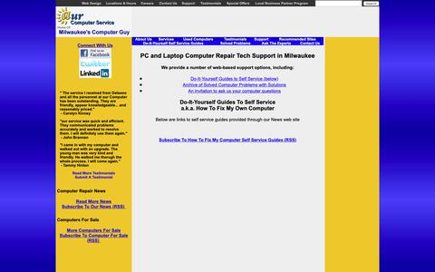 Screenshot of Support Page aurcomputerservice.com - Milwaukee Computer Repair Support, Self-Service Guides, How to Fix My Own Computer | aur Computer Service - captured Nov. 6, 2018