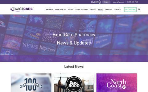 Screenshot of Press Page exactcarepharmacy.com - News - captured June 7, 2019