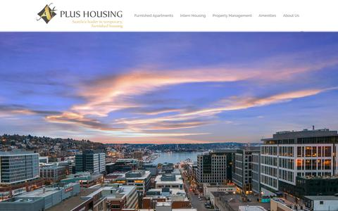 Screenshot of Home Page aplusnw.com - A Plus Temporary Furnished Housing in Seattle - A Plus Housing - captured Oct. 2, 2018