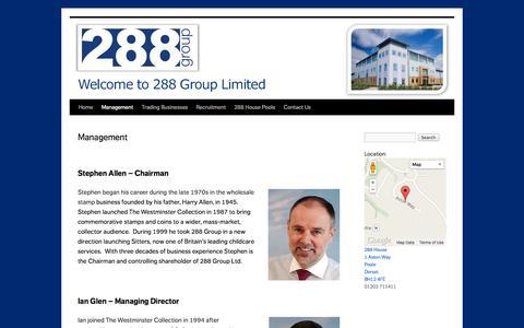 Screenshot of Team Page 288group.co.uk - Management   - captured Oct. 9, 2014
