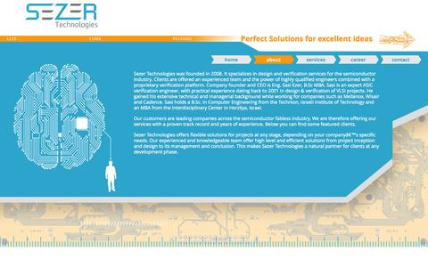 Screenshot of About Page sezer-tech.com - About   Sezer Tech - captured Oct. 7, 2014