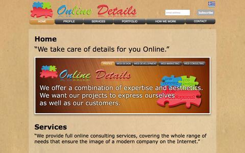 Screenshot of Home Page online-details.com - Online Details - captured Sept. 30, 2014