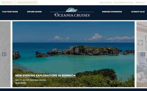 Screenshot of Blog oceaniacruises.com - Oceania Experience Blog - Oceania Cruises - captured June 2, 2019