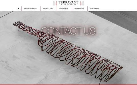Screenshot of Contact Page terravant.com - Contact Us   Terravant Wine Co. - captured Dec. 21, 2018