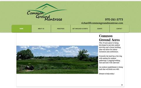 Screenshot of Home Page commongroundmontrose.com - Common Ground Montrose - captured Sept. 30, 2014